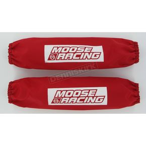 Moose Front/Rear Red 12 1/4 in. Shock Covers  - MUDP18