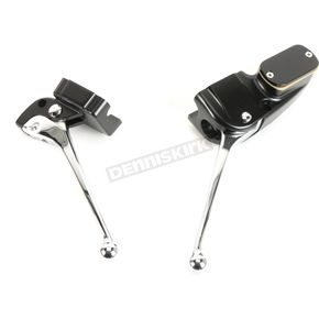 Billet Handlebar Controls for Custom Use-3/4 in. Master Cylinder for Dual Discs - 44719