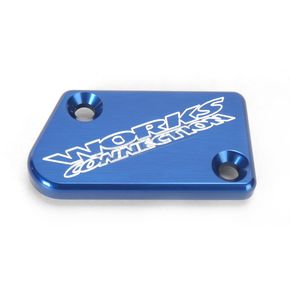 Works Connection Blue Anodized Billet Aluminum Front Brake Reservoir Cover - 21-031