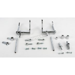 Kraft Tech Chrome Custom Forward Control Kit without Pegs - 45862