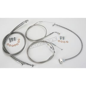 Baron Custom Accessories Standard Length Handlebar Cable and Line Kit - BA-8025-KT