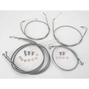 Baron Custom Accessories 12 in. - 14 in. Handlebar Cable and Line Kit - BA-8025-KT12