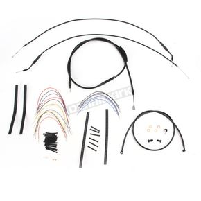 Black Vinyl Handlebar Cable and Brake Line kit for Apes w/o ABS