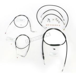 LA Choppers Black Vinyl Handlebar Cable and Brake Line Kit for Use w/12 in. - 14 in. Ape Hangers - LA-8150KT-13B