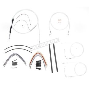 Magnum Custom Sterling Chromite II Designer Series Handlebar Installation Kit for Use w/15 in. - 17 in. Ape Hangers (Non-ABS)  - 387122