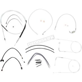 Magnum Custom Sterling Chromite II Designer Series Handlebar Installation Kit for Use w/12 in. - 14 in. Ape Hangers (w/ABS)  - 387141