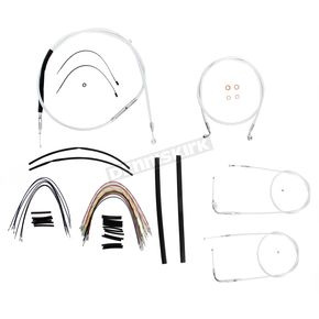 Magnum Custom Sterling Chromite II Designer Series Handlebar Installation Kit for Use w/18 in. - 20 in. Ape Hangers (Non-ABS)  - 387163