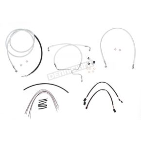 Magnum Custom Sterling Chromite II Designer Series Handlebar Installation Kit for Use w/12 in. - 14 in. Ape Hangers (Non-ABS) - 387331
