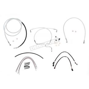 Magnum Custom Sterling Chromite II Designer Series Handlebar Installation Kit for Use w/15 in. - 17 in. Ape Hangers (Non-ABS) - 387332
