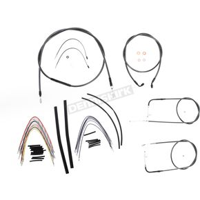 Magnum Black Pearl Designer Series Handlebar Installation Kit for Use w/12 in. - 14 in. Ape Hangers - 487101