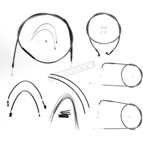 Magnum Black Pearl Designer Series Handlebar Installation Kit for Use w/12 in. - 14 in. Ape Hangers (Non-ABS)  - 487131