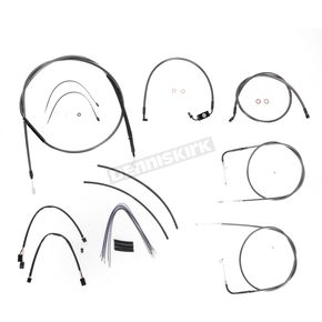 Magnum Black Pearl Designer Series Handlebar Installation Kit for Use w/18 in. - 20 in. Ape Hangers (w/ABS)  - 487143