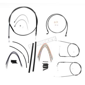 Magnum Black Pearl Designer Series Handlebar Installation Kit for Use w/12 in. - 14 in. Ape Hangers (Non-ABS)  - 487151