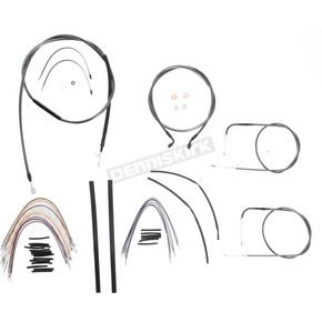 Magnum Black Pearl Designer Series Handlebar Installation Kit for Use w/12 in. - 14 in. Ape Hangers (Non-ABS) - 487161