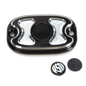 Roland Sands Design Contrast Cut Cafe Rear Brake Master Cylinder Cover - 0208-2120-BM
