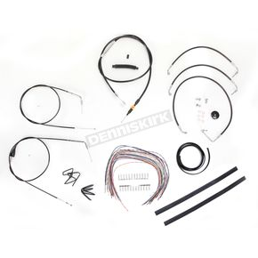 LA Choppers Black Vinyl Handlebar Cable and Brake Line Kit for Use w/12 in. - 14 in. Ape Hangers - LA-8006KT2A-13B