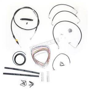 LA Choppers Black Vinyl Handlebar Cable and Brake Line Kit for Use w/12 in. - 14 in. Ape Hangers w/o ABS - LA-8010KT2-13B