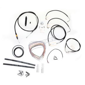 LA Choppers Black Vinyl Handlebar Cable and Brake Line Kit for Use w/12 in. - 14 in. Ape Hangers w/ABS - LA-8050KT2-13B
