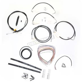 LA Choppers Black Vinyl Handlebar Cable and Brake Line Kit for Use w/Mini Ape Hangers w/ABS - LA-8051KT2-08B
