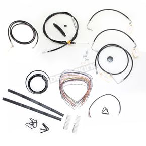 LA Choppers Black Vinyl Handlebar Cable and Brake Line Kit for Use w/15 in. - 17 in. Ape Hangers w/ABS - LA-8051KT2-16B