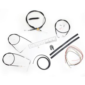 LA Choppers Black Vinyl Handlebar Cable and Brake Line Kit for Use w/Mini Ape Hangers (w/o ABS) - LA-8100KT2A-08B
