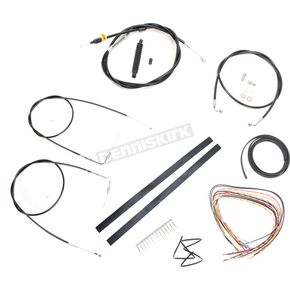 LA Choppers Black Vinyl Handlebar Cable and Brake Line Kit for Use w/15 in. - 17 in. Ape Hangers w/o ABS - LA-8110KT2A-16B