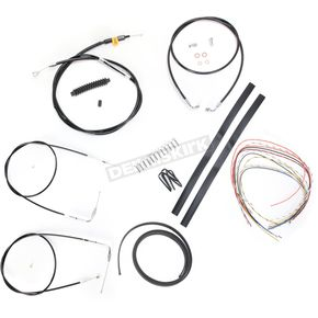 LA Choppers Black Vinyl Handlebar Cable and Brake Line Kit for Use w/18 in. - 20 in. Ape Hangers (w/o ABS) - LA-8130KT2-19B