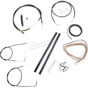 LA Choppers Black Vinyl Handlebar Cable and Brake Line Kit for Use w/Mini Ape Hangers (w/o ABS) - LA-8140KT2-08B