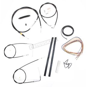 LA Choppers Black Vinyl Handlebar Cable and Brake Line Kit for Use w/12 in. - 14 in. Ape Hangers (w/o ABS) - LA-8140KT2-13B