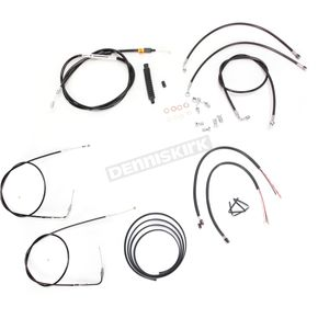 LA Choppers Black Vinyl Handlebar Cable and Brake Line Kit for Use w/Mini Ape Hangers w/ABS - LA-8150KT2-08B