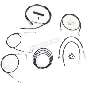 LA Choppers Black Vinyl Handlebar Cable and Brake Line Kit for Use w/12 in. - 14 in. Ape Hangers w/o ABS - LA-8210KT2B-13B