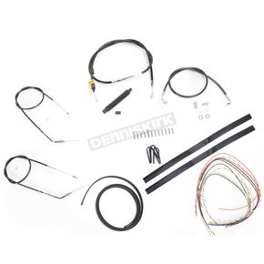 LA Choppers Black Vinyl Handlebar Cable and Brake Line Kit for Use w/Cafe Ape Hangers - LA-8300KT2-0CB