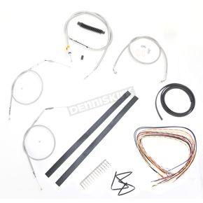LA Choppers Stainless Braided Handlebar Cable and Brake Line Kit for Use w/Cafe Ape Hangers - LA-8320KT2A-0C
