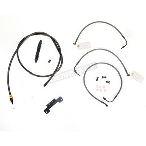 LA Choppers Midnight Stainless Handlebar Cable and Brake Line Kit for Use w/12 in. - 14 in. Ape Hangers (w/o ABS) - LA-8011KT-13M