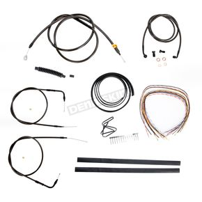 LA Choppers Midnight Stainless Handlebar Cable and Brake Line Kit for Use w/Mini Ape Hangers (w/o ABS) - LA-8140KT2-08M