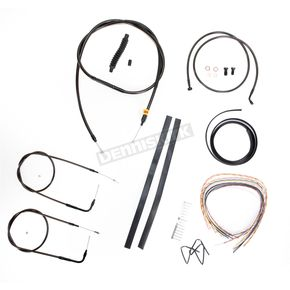 LA Choppers Midnight Stainless Handlebar Cable and Brake Line Kit for Use w/Mini Ape Hangers (w/o ABS) - LA-8210KT2A-08M