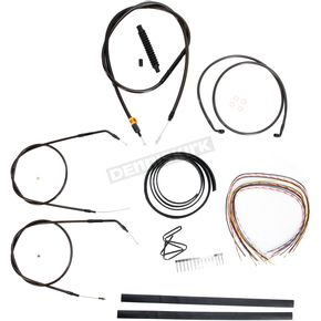 LA Choppers Midnight Stainless Handlebar Cable and Brake Line Kit for Use w/Cafe Ape Hangers - LA-8320KT2A-0CM