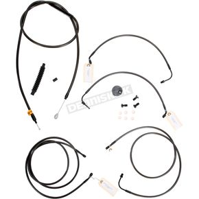 LA Choppers Midnight Stainless Handlebar Cable and Brake Line Kit for Use w/Mini Ape Hangers w/ABS - LA-8050KT-08M