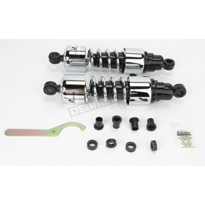 Progressive Suspension Chrome 412 Series American-Tuned Gas Shocks w/o Cover - 210/250 Spring Rate (lbs/in) - 412-4051C