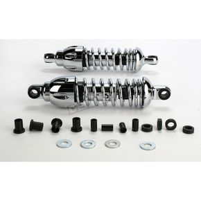 Progressive Suspension Chrome Standard 430 Series Shocks - 115/155 Spring Rate (lbs/in) - 430-4081C
