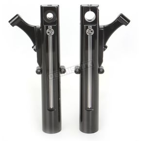Performance Machine Contrast Cut Dual Disc Fork Leg Kit for Radial Mount Calipers - 0208-2058-BM