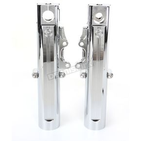 Performance Machine Chrome Fork Leg Kit for Dual Disc Brakes - 0208-2096-CH