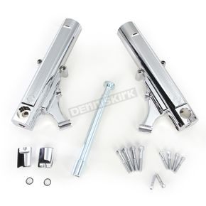 Performance Machine Chrome Dual Disc Fork Leg Kit for Radial Mount Calipers - 0208-2098-CH
