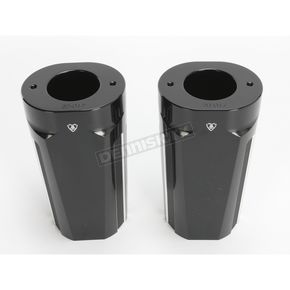 Arlen Ness Black Anodized 10 Gauge Boot Covers - 20-017