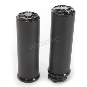 LA Choppers Decadent Black Powdercoat Fusion Grips - LA-F400-00B