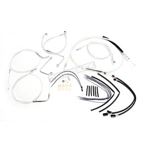 Magnum Sterling Chromite II Caliber Handlebar Installation Kit W/ 16 in. Ape Hanger Bars - 38826-116
