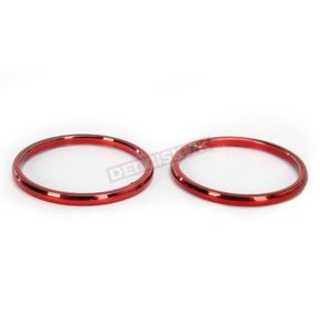 Kuryakyn Red Smooth Accent Rings For ISO-Grips - 6265