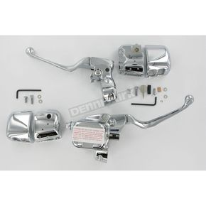 Custom Chrome Chrome Smooth Contour Control Kits with TUV - 23265