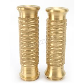 NYC Choppers Old Skool Brass Classic Grips for Throttle-By-Wire Models - FBW48BRS