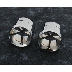 Drag Specialties Chrome Five Spoke End Caps for Billet Grips w/ Interchangeable End Caps - 0630-0745